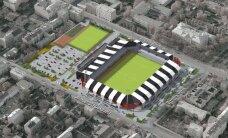 Saskaņots futbola stadiona Kr. Barona ielā skiču projekts