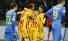 BATE bez Dubras bezspēcīgi piekāpjas 'Barcelona' futbolistiem; zaudējums arī Minhenes 'Bayern'