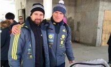 Foto: Latvieši iemēģina jauno olimpisko trasi Phjončhanā