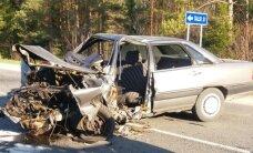 Foto: Smaga avārija Talsu novadā