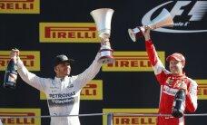 Itālijas 'Grand Prix': Hamiltons uzvar, 'tifozi' sajūsmā, Rosbergam drāma