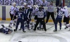 Video: Rīgas 'Dinamo' izvicina dūres Hantimansijskā