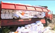 Krievijā ar traktoru iznīcina tonnām tomātu, persiku, nektarīnu un siera
