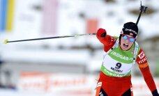 Bergere izrauj uzvaru masu starta sacensībās biatlonā
