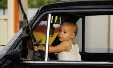 20% bērnu automašīnās tiek vesti neatbilstoši drošības normām
