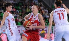 Krievijas un Spānijas basketbolistes ar uzvarām noslēdz EČ pirmo posmu
