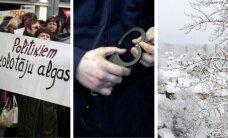 23 ноября. Забастовка учителей, аресты в Бельгии, снегопады в Видземе