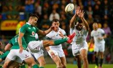 Īrijas regbisti izcīna vēsturisku uzvaru DĀR, Anglija uzvar Austrālijā, Velsa pabiedē Jaunzēlandi