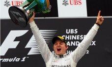 Rosbergs uzvar Japānas 'Grand Prix' kvalifikācijas sacensībās