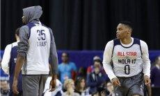 NBA Zvaigžņu spēles uzmanības centrā divu zvaigžņu konflikts
