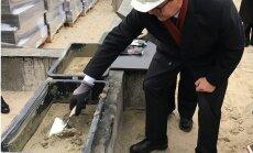 Foto: Jelgavā uzsāk būvēt plašāko reģionālo tehniskās apskates staciju