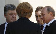 """Путин обсудил с Меркель и Олландом последствия """"газовой войны"""""""