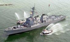 Jemenas huti ASV karakuģa 'USS Mason' virzienā raida divas raķetes