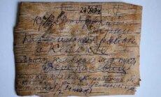 Sibīrijas bērza tāss vēstules pieejamas Pasaules digitālajā bibliotēkā