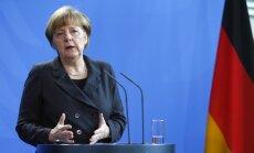 Merkele aicina nelolot cerības sarunās ar Putinu panākt pamieru Ukrainā