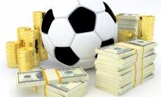 Totalizatoru apgrozījums uz vienu futbola spēli Latvijā ir vidēji 2,16 miljoni eiro