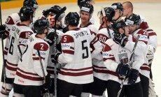 Latvijas hokeja izlase pasaules čempionāta mačā spēkojas ar Itāliju