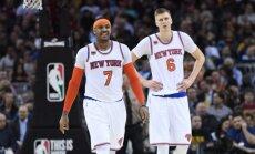 Porziņģis gūst potītes traumu; 'Knicks' atgriežas ar zaudējumu čempioniem