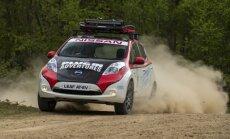 Elektriskais 'Nissan Leaf' dosies 16 tūkstoš kilometru rallijreidā