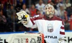 Latvijas hokeja izlasei neizdodas 'atslēgt' Krievijas vārtus