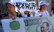 Krievijas rubļa vērtība nokrīt līdz rekordzemam līmenim pret eiro