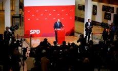 SPD piekrīt uzsākt koalīcijas sarunas ar Merkeli
