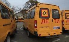 Arī Čečenijā skolas saņem oranžus autobusus
