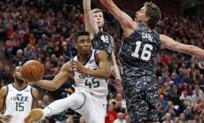 Bertānam 12 punkti, 'Spurs' nespēj apturēt Jūtas 'Jazz' uzvaru sēriju