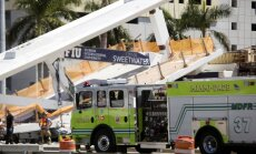 Maiami sabrucis gājēju tilts; vismaz seši bojāgājušie
