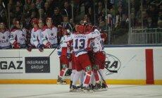 Maskavas CSKA hokejisti nonāk vienas uzvaras attālumā no Gagarina kausa izcīņas fināla