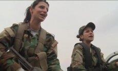 Video: Kā trenējas Sīrijas armijas brīvprātīgās karotājas