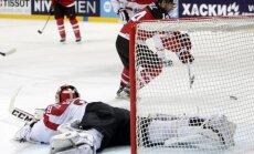 Kanādieši aizvada vēl vienu 10 vārtu spēli, sagrauj Austriju