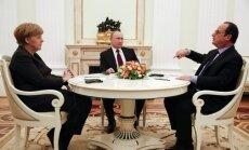 Putins, Merkele un Olands G20 samita laikā runās par Ukrainu, paziņo Kremlis
