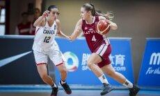 Latvijas U-19 basketbolistes spraigā duelī zaudē spēlē par pirmo vietu Pasaules kausa apakšgrupā