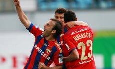 Cauņa atgriežas pieteikumā; CSKA izcīna graujošu uzvaru Krievijas premjerlīgas mačā