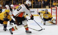 Corey Perry #10 Anaheim Ducks against Pekka Rinne Nashville Predators