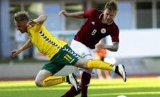 Latvijas futbola izlase Baltijas kausa mačā pieveic Lietuvu