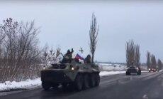 Video: Pēc Plotņicka gāšanas Doņeckas kaujinieku kolonna pamet Luhansku