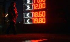 Krievijas rublis 'nogāžas' līdz šogad zemākajam līmenim
