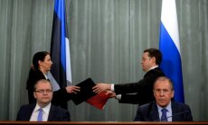 Igaunija un Krievija paraksta robežlīgumu
