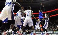 'Knicks' bez Porziņģa sastāvā pieveic NBA pastarīti '76ers'