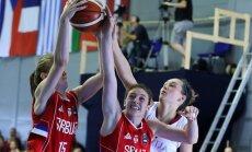 Latvijas U-18 basketbolistes EČ astotdaļfinālā pēdējā minūtē cieš zaudējumu serbietēm