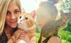 'Teikšu godīgi: kuram katram cilvēkam kaķi nedodu'. Zanda Indriksone atradusi mājas vismaz 350 mīluļiem