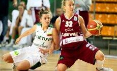 Latvijas sieviešu basketbola izlase sīvā cīņā piekāpjas Lietuvai