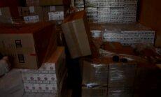 Baldonē kravu pārvadātāju pieķer ar 2 miljoniem kontrabandas cigarešu
