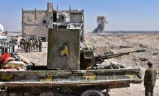 Damaska nosoda ASV koalīcijas ieceri par 'pierobežas spēkiem' Sīrijas ziemeļaustrumos