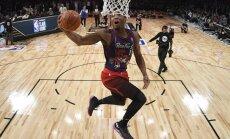 Video: NBA debitants Mičels uzvar Visu zvaigžņu spēles 'slam-dunk' konkursā