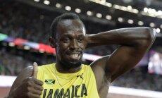 Bolts skries PČ stafetē, neskatoties uz sāpēm