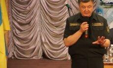 Krievijas TV analizē, vai Porošenko Mariupolē uzstājies dzērumā