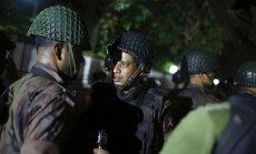 Bangladešas galvaspilsētas diplomātiskajā rajonā izcēlusies apšaude un saņemti ķīlnieki